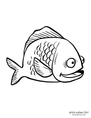 Funny fish coloring page from PrintColorFun com (32)