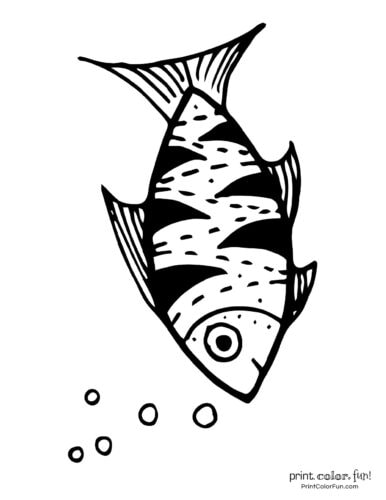 Funny fish coloring page from PrintColorFun com (33)