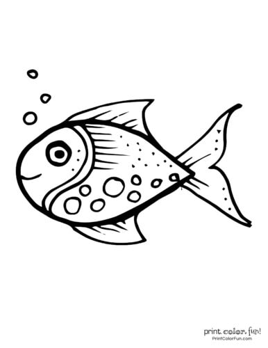 Funny fish coloring page from PrintColorFun com (35)
