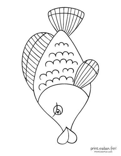 Funny fish coloring page from PrintColorFun com (6)