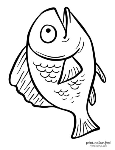 Funny fish coloring page from PrintColorFun com (7)