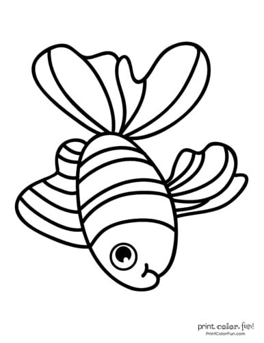 Funny fish coloring page from PrintColorFun com (8)