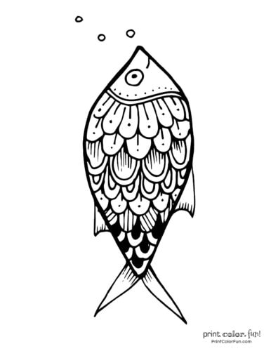 Funny fish coloring page from PrintColorFun com (9)