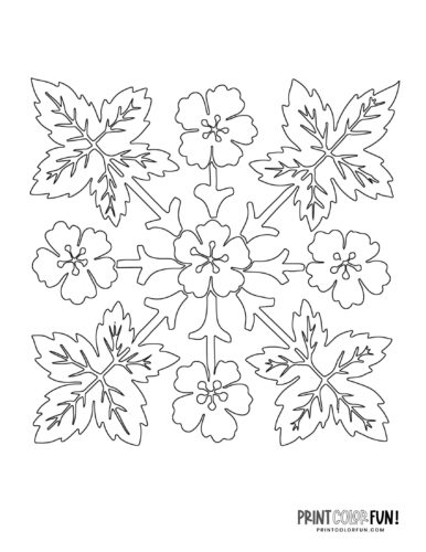 Hawaiian quilt patterns to stencil or color (3)