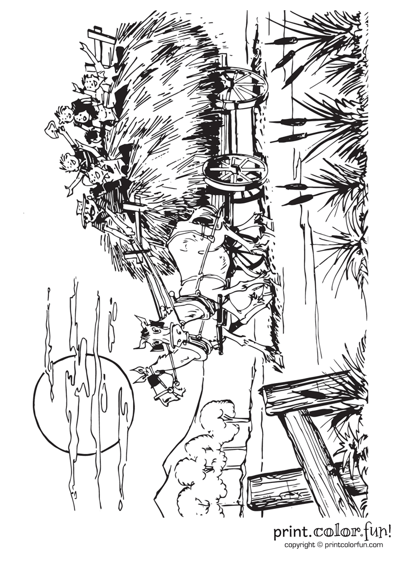 Hayride coloring pages coloring pages for Hay coloring pages