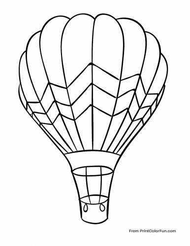Hot air balloon with lines