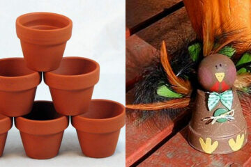 How to make a cute clay pot turkey craft