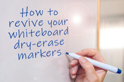 How to revive a whiteboard dry-erase marker pen