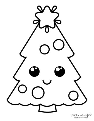 Top 100 Christmas Tree Coloring Pages The Ultimate Free Printable Collection Coloring Page Print Color Fun