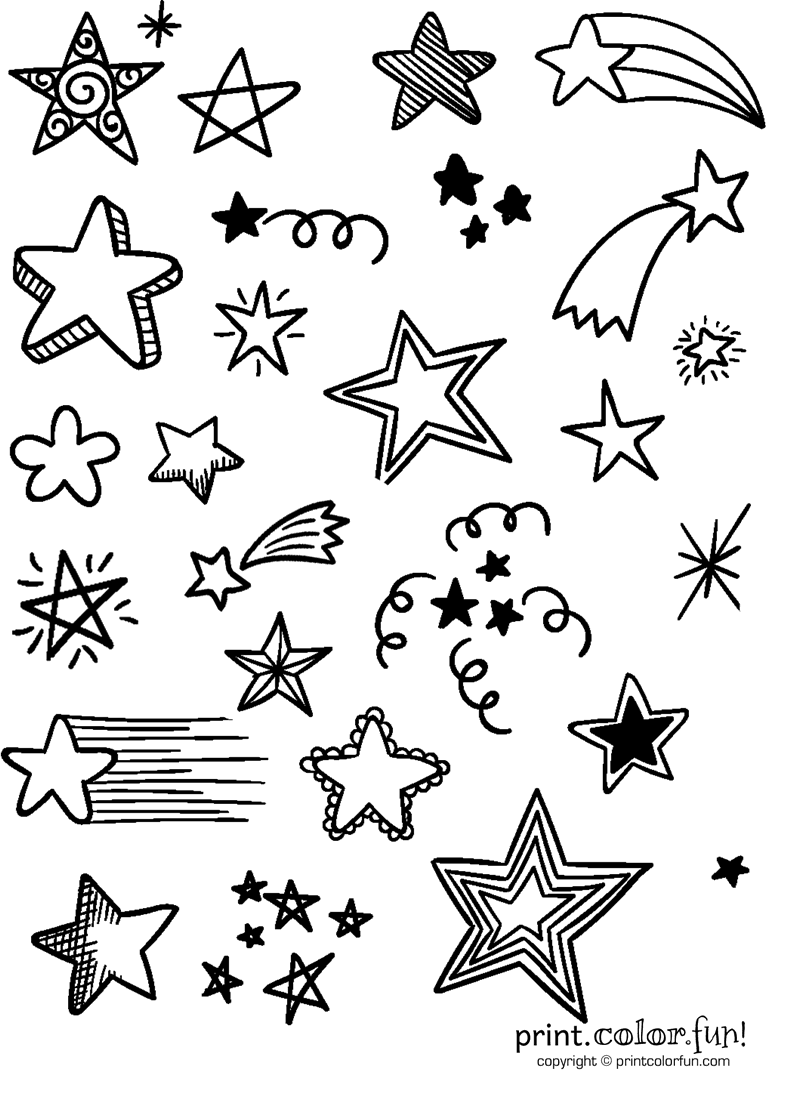 Lots of stars - Print Color Fun!