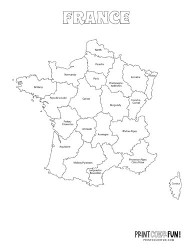 Maps of France to color (1)