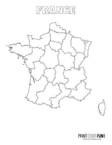 Maps of France to color (2)