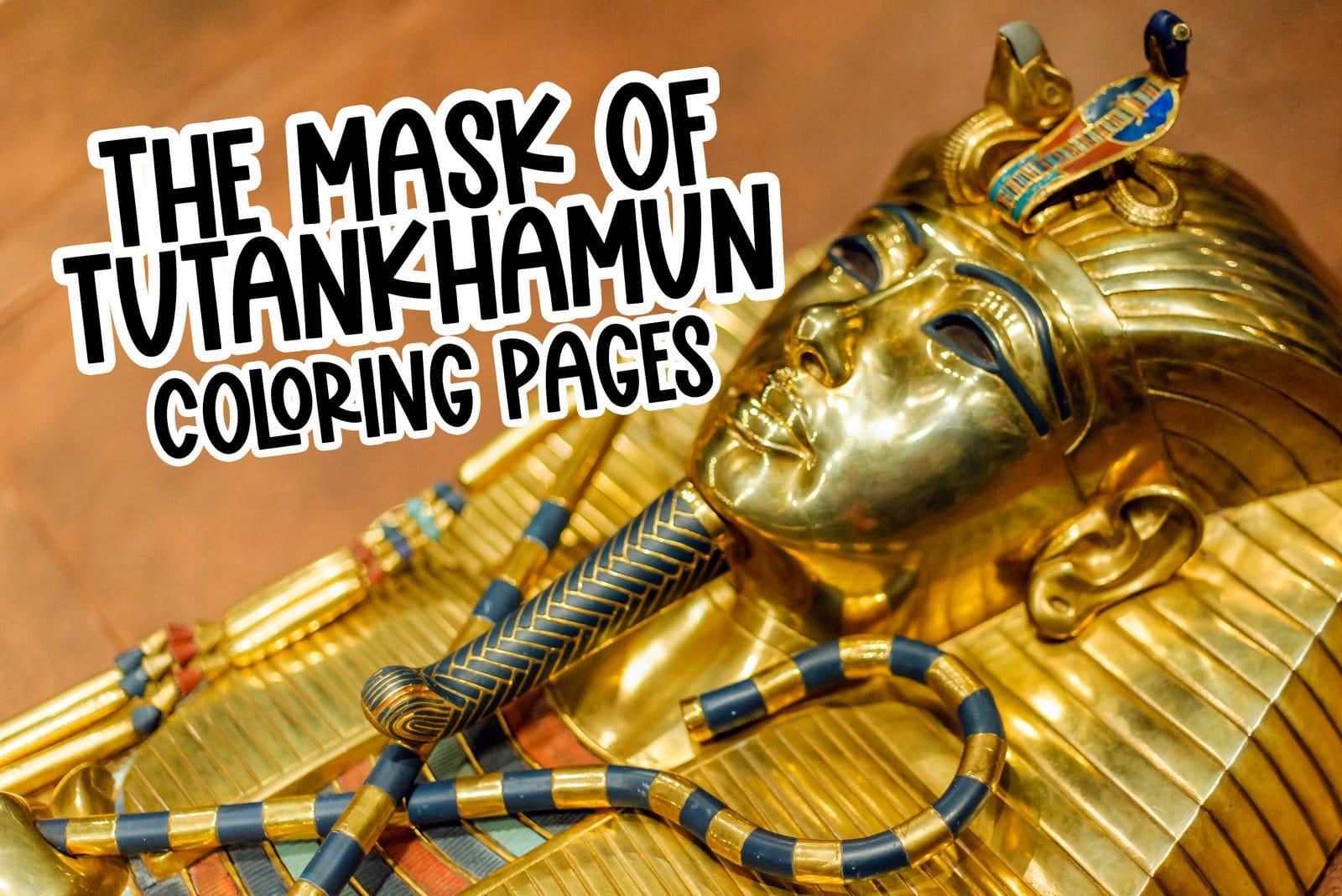 Mask of Tutankhamun coloring pages