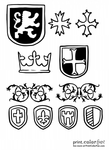 Medieval designs and coats of arms