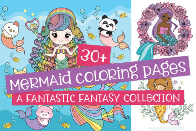 Mermaid coloring pages collection