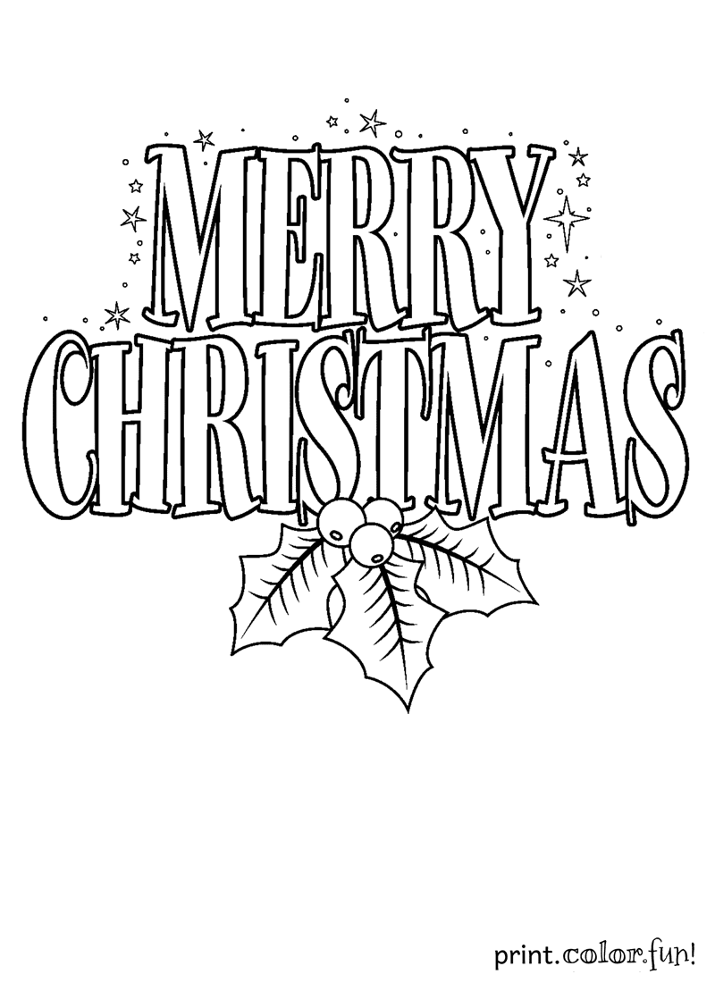 merry christmas signs coloring pages - photo#2