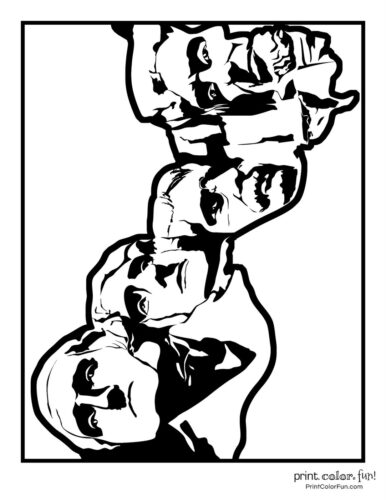Mount Rushmore coloring pages