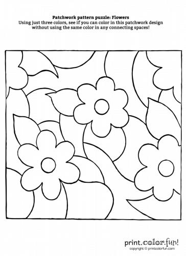 Patchwork-puzzle---Flowers