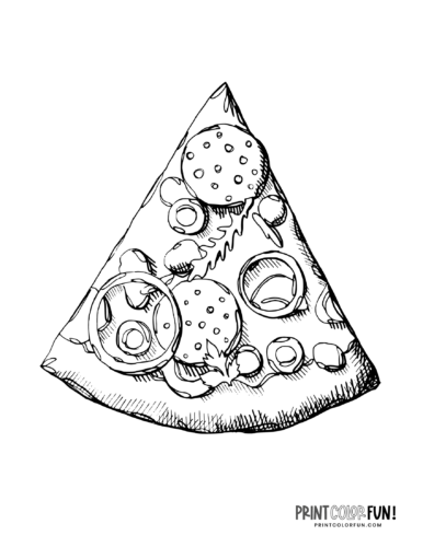 Pizza slice coloring page (1)