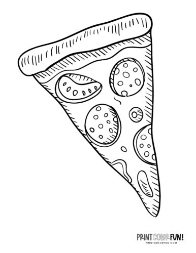 Pizza slice coloring page (2)