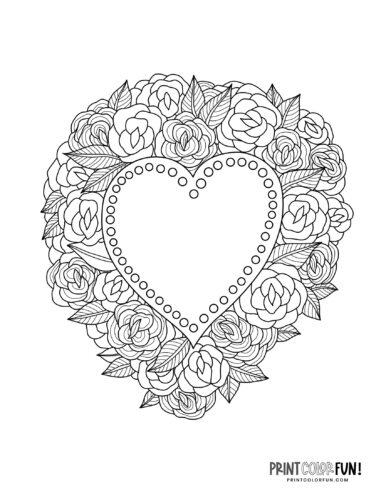 Pretty heart inside flowers