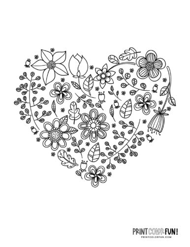 Pretty heart made of flowers