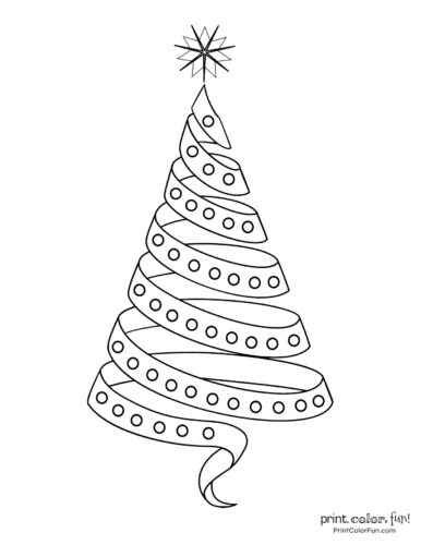 Pretty ribbon Christmas tree design