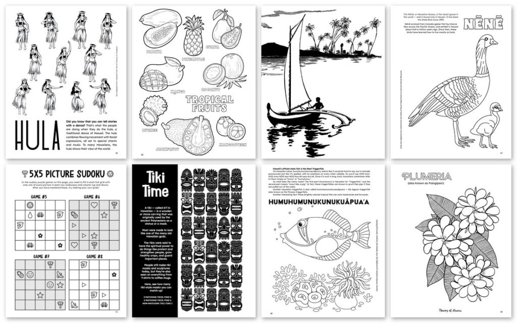 Preview of The Ultimate Hawaii Activity Book (3)