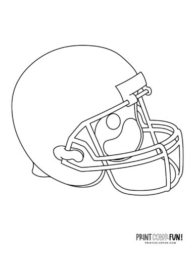 Printable football helmet coloring page
