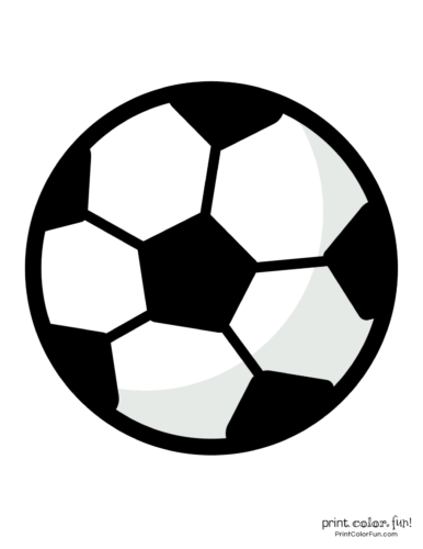 photo about Soccer Ball Template Printable known as Football ball coloring webpages coloring webpage - Print. Coloration. Enjoyable!