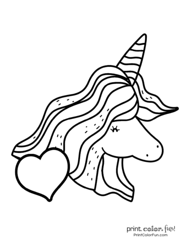 Printable unicorn coloring page (12)