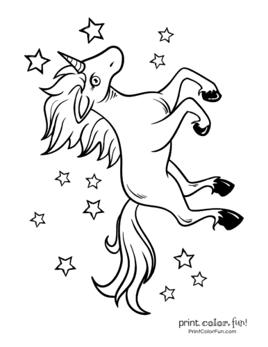 Printable unicorn coloring page (16)