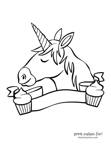 Printable unicorn coloring page (18)
