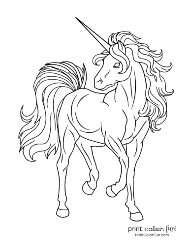 Printable unicorn coloring page (19)