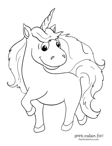 Printable unicorn coloring page (20)