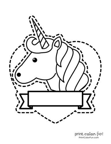 Printable unicorn coloring page (21)