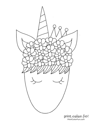Printable unicorn coloring page (22)