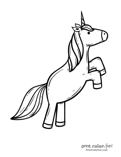 Printable unicorn coloring page (23)