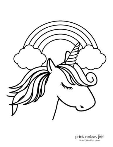 Printable unicorn coloring page (24)