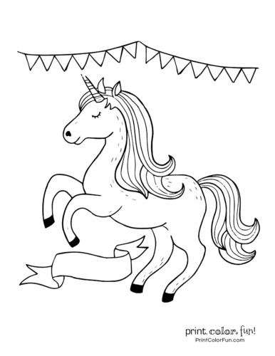 Printable unicorn coloring page (25)