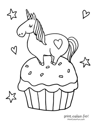 Printable unicorn coloring page (26)