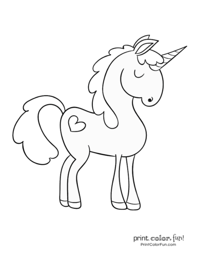 Printable unicorn coloring page (27)