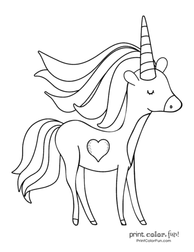 Printable unicorn coloring page (28)