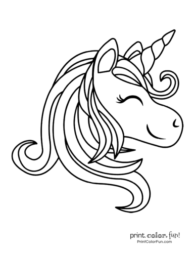 Printable unicorn coloring page (32)
