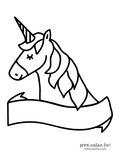 Printable unicorn coloring page (34)