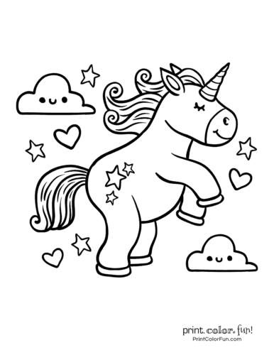 Printable unicorn coloring page (36)