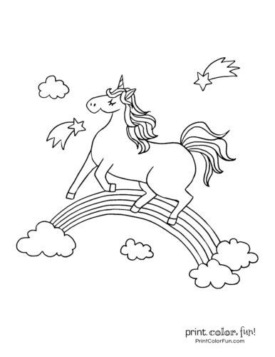 Printable unicorn coloring page (37)