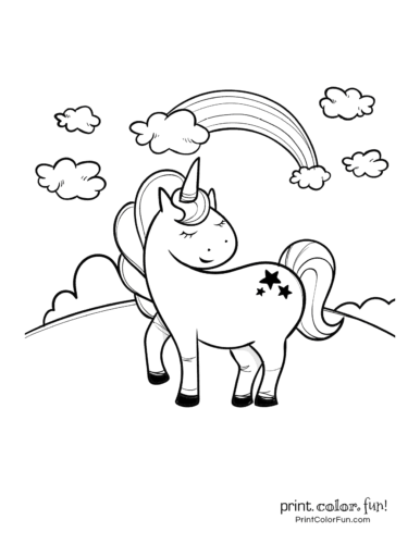 Printable unicorn coloring page (38)