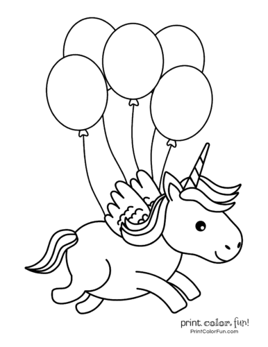 Balloon Coloring Pages - Best Coloring Pages For Kids | 500x386