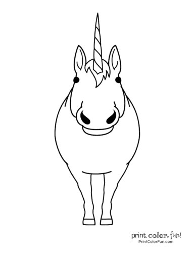 Printable unicorn coloring page (45)